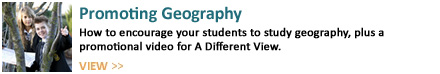 View the Promoting Geography page for some ideas about promoting geography in your school and some inspirational videos