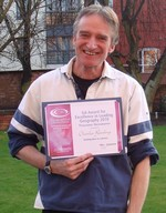 Charles Rawding with his GA Award