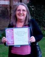 Margaret Roberts with her GA Award