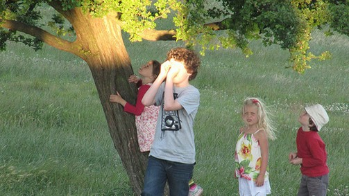 Children and tree