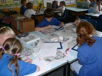 Pupils at work in the classroom