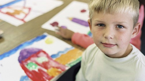 Child with painting