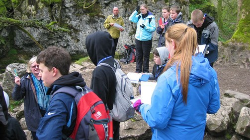 students on a fieldtrip