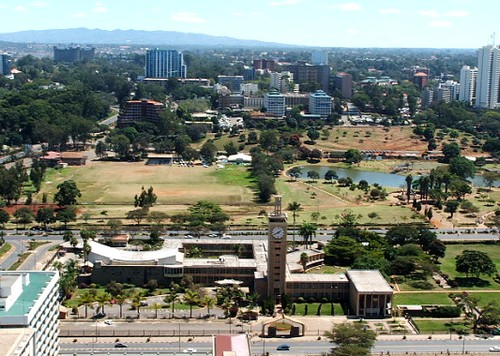 A view of Nairobi from the top of the Conference Centre tower