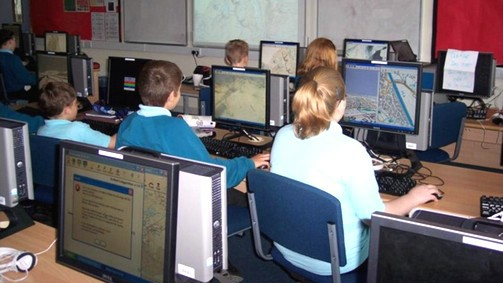 students in ICT room