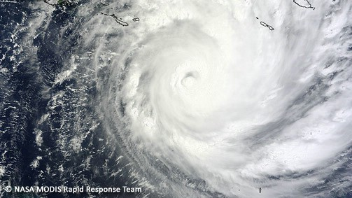 Cyclone Yasi - image courtesy of NASA