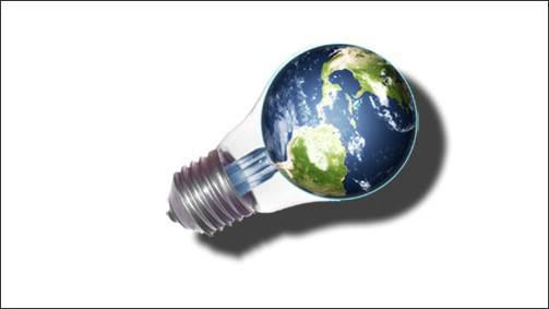globe lightbulb