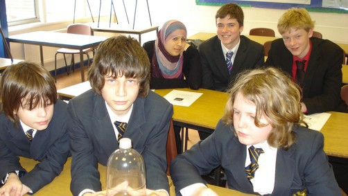 students with cloud in a bottle