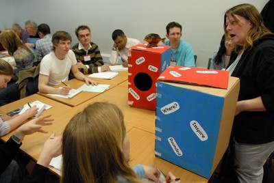 PGCE students doing a classroom activity