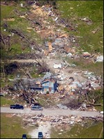 Photo of tornado damage, courtesy of Terry Gene Hembree