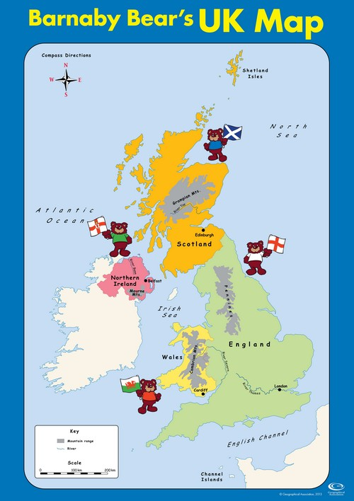 Barnaby Bear's UK Map
