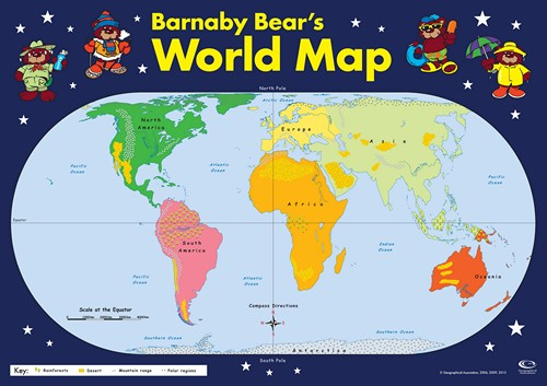 9781843773474 Barnaby Bears World Map Key Stage 1 Key Stage