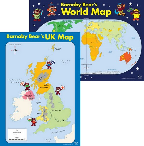 9781843773603 barnaby bears world map key stage 1 key stage barnaby bears uk and world map offer gumiabroncs Choice Image