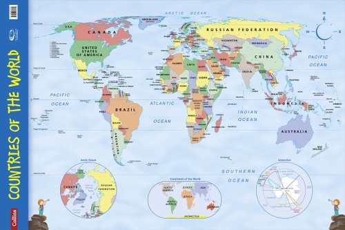 9780007536139 collins countries of the world wall map key stage collins countries of the world wall map gumiabroncs Choice Image