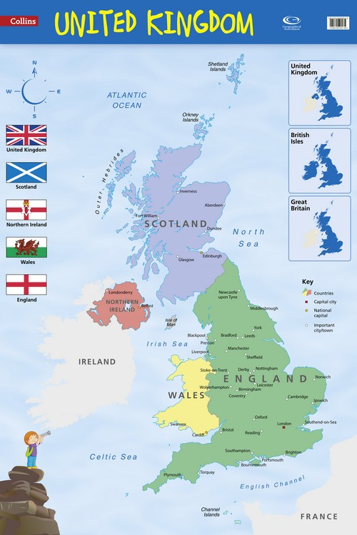 Map Of Uk To Buy.9780007536122 Collins Uk Wall Map Buy Geography Teaching